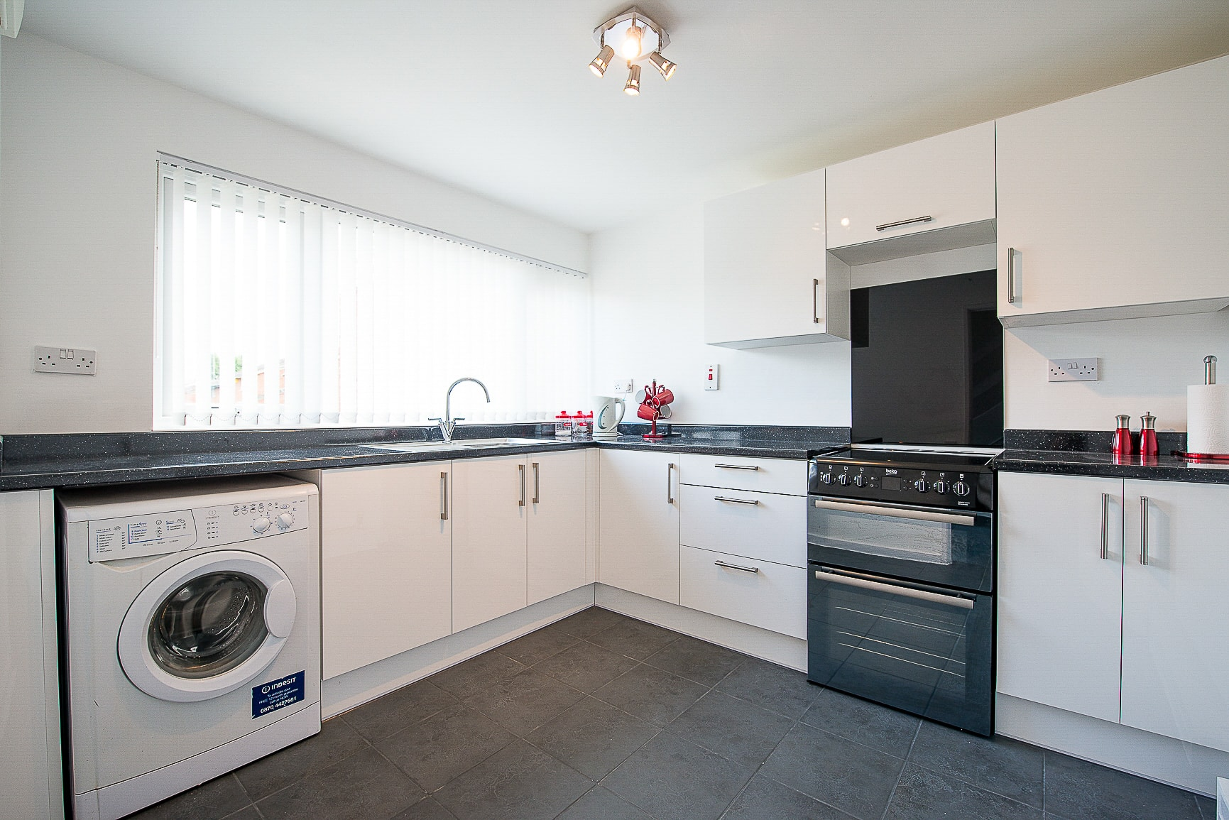An immaculate kitchen on a property viewing with Michael Anthony Estate Agents